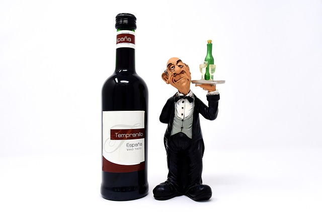 číšník a víno
