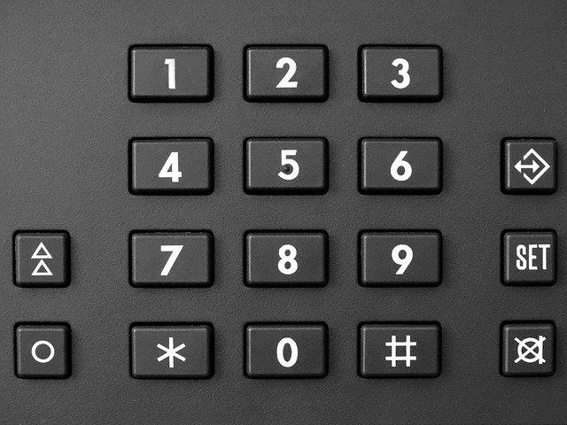 číselná klávesnice